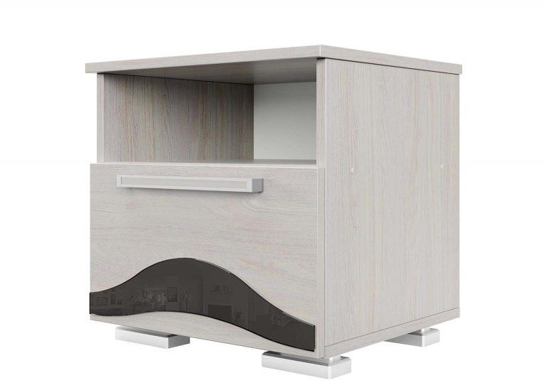 Спальня Лагуна 5 Тумба прикроватная Ясень Анкор светлый SV-Мебель