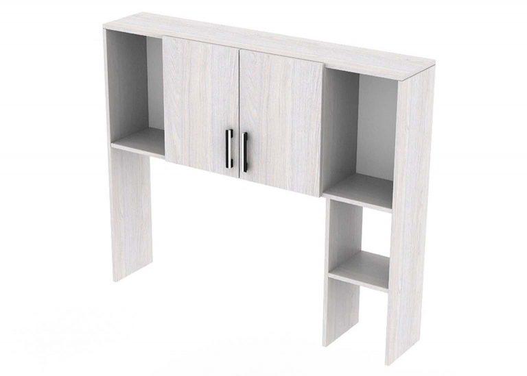 Стол компьютерный №7 Надстройка Ясень Анкор светлый SV-Мебель