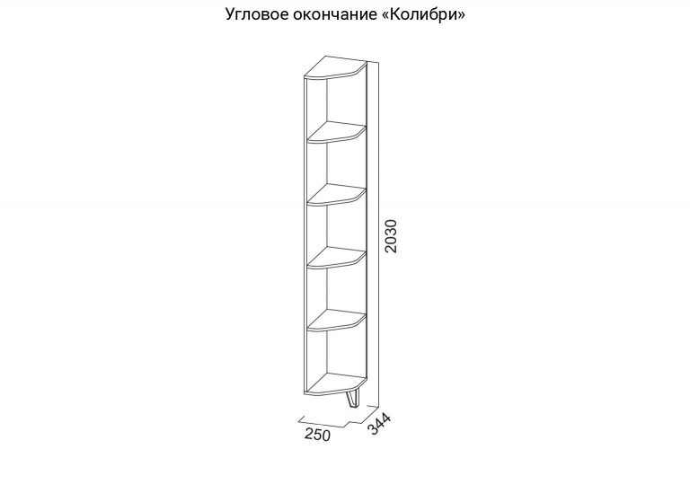 Угловое окончание Колибри схема SV-Мебель