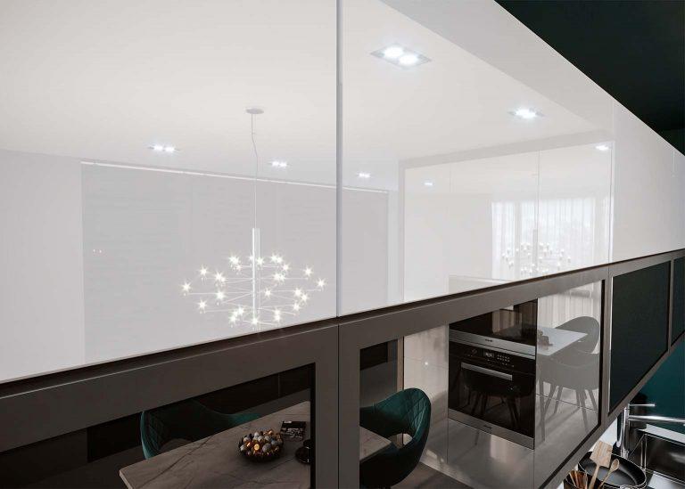 Кухня Бостон фасад белый глянец SV-Мебель