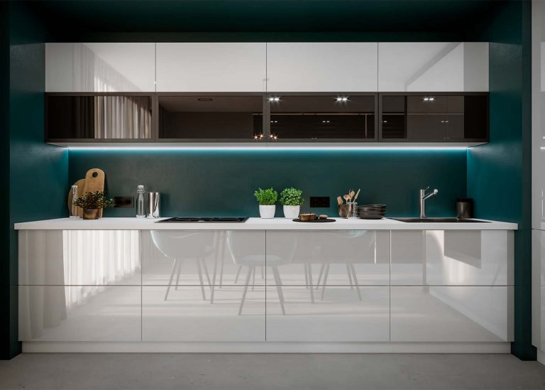 Кухня Бостон с фасадом Белый глянец SV-Мебель